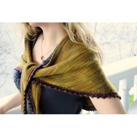 Cosette - châle tricot