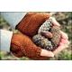 Feuilles de chêne - mitaines tricotées
