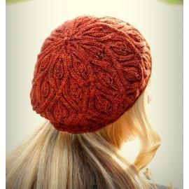 Feuilles d'automne - beret tricoté