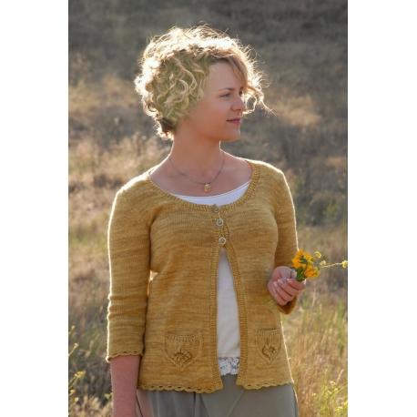 Fleur sauvage - veste tricot