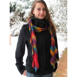 Kubix - écharpe crochet