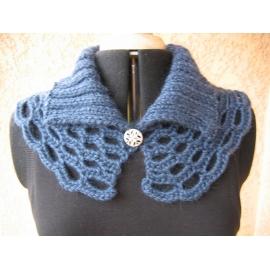 Amphicol - col tricot + crochet