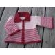 Manon - veste layette au crochet