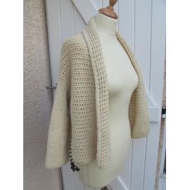 OXIXO - veste tricotée et crochetée