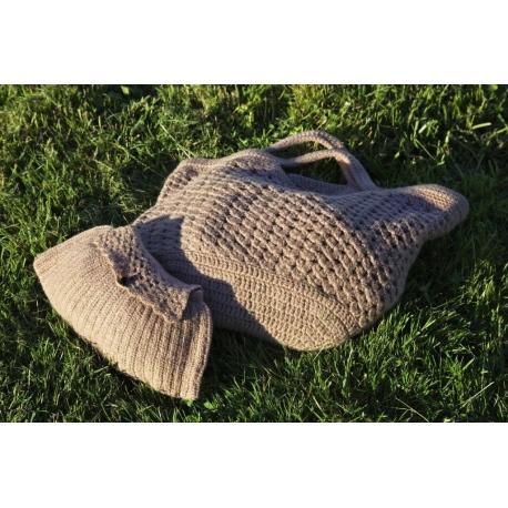 Couffin et pochette feutrés (ou pas) - sacs au crochet