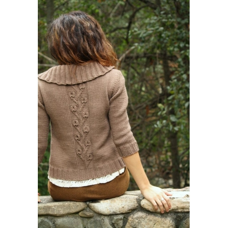Bourgeons et fleurs - veste tricotée