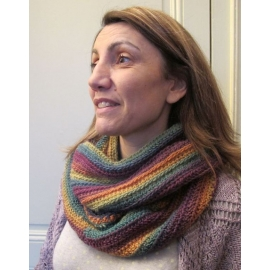 5 rectangles - snood crochet