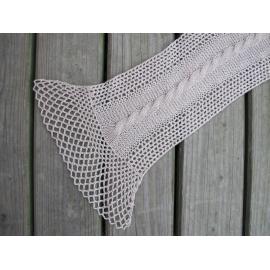 Ava - écharpe tricot + crochet