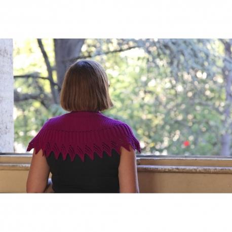 Pointue - Châle tricot
