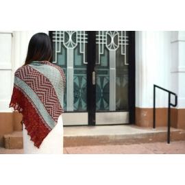 Fugue en mosaïque mineur - châle tricot