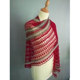 Lady in Red - châle crochet