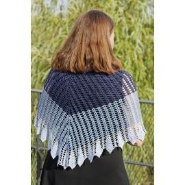 Blue Song - châle crochet