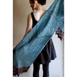 Bannière étoilée - étole tricot