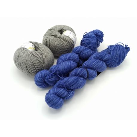 Kit Bannière étoilée v 4 bleu comme tes yeux gris granite