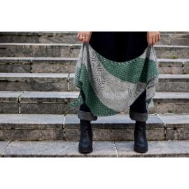 Olives en novembre - châle tricot