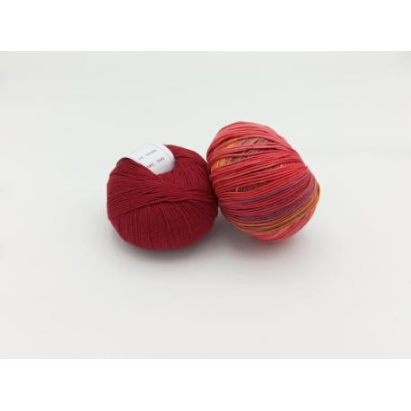 Kit Rhombique (fils) - petit sac tomette et sorbet