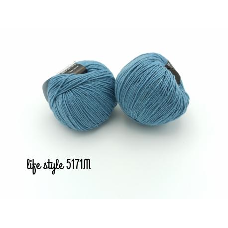 Life Style - fil mérinos 5171M bleu pigeon