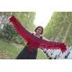 Soleil Rouge - petit châle tricot