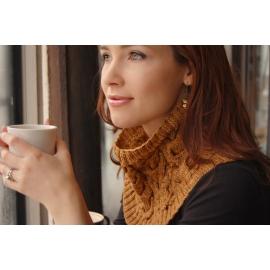 Café au lait - col tricoté