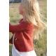 Petite fleur sauvage - veste tricotée enfant