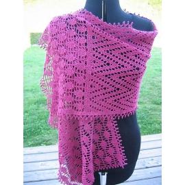 Flèches - étole crochet
