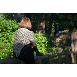Foulard de soie - châle crochet